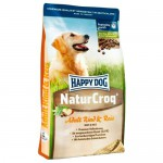 HAPPY DOG Premium - NaturCroq Rind&Reis, 15 кг