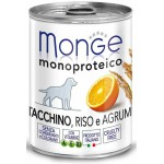 Monge Dog Monoproteico Fruits Консервы для собак паштет из индейки с рисом и цитрусовыми 400 г